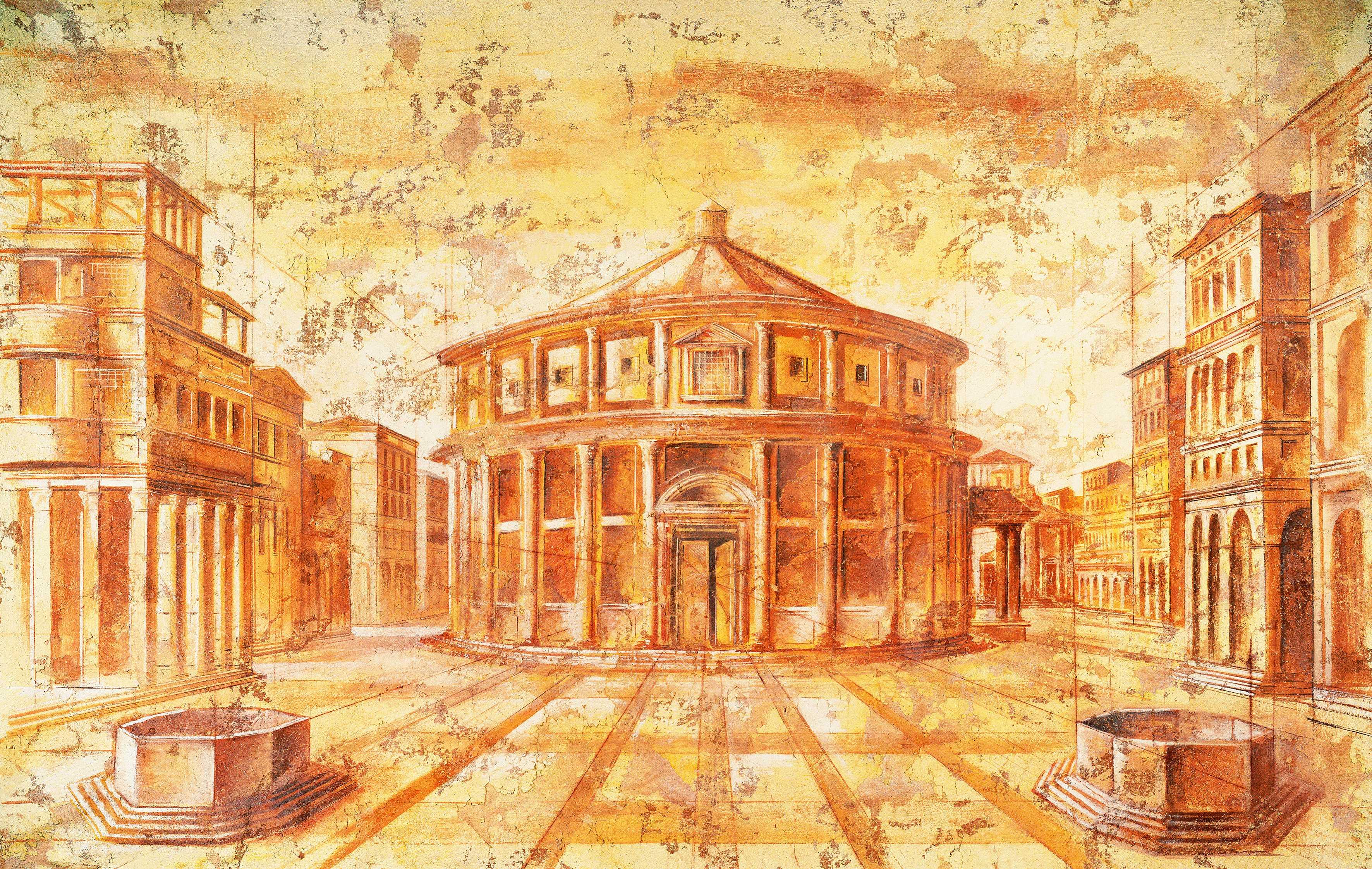 Exklusive Italienische Tapeten : Sehen Sie unten Beispiele f?r Motive f?r freigelegte Fresken und